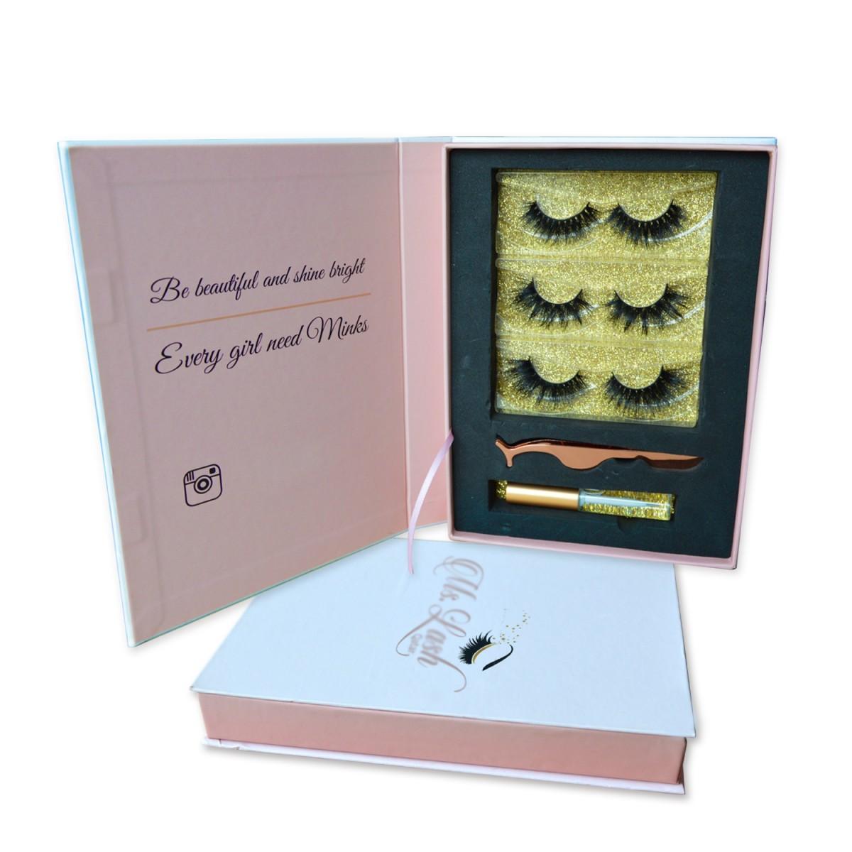 Pink eyelash book-3