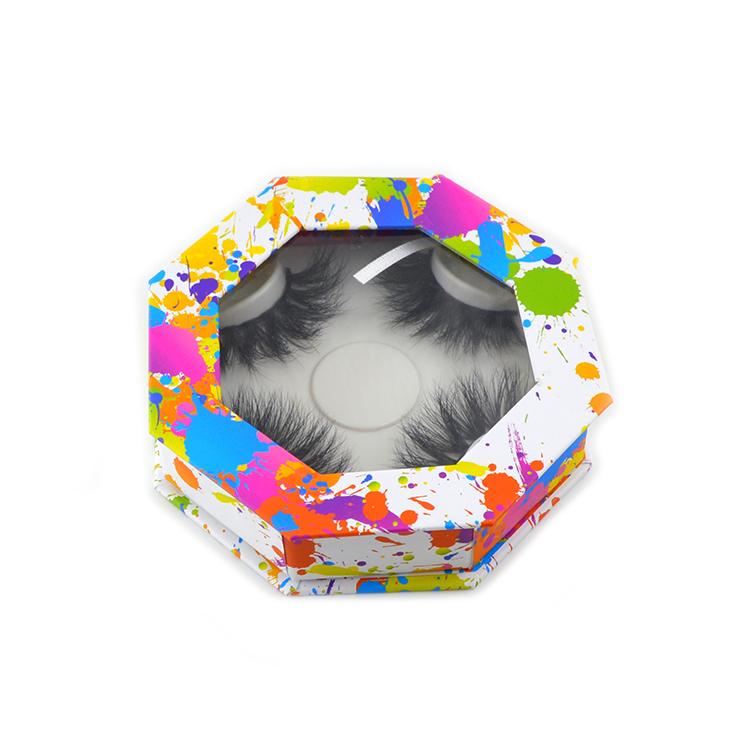 Customized octagonal eyelash box front view