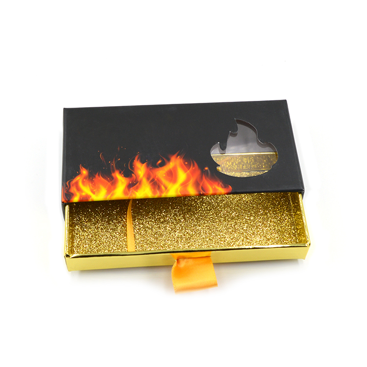 custom logo square eyelash packaging boxes with pull out handle-  (1)