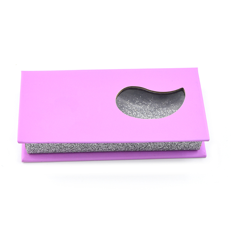 Violet rectangular lash box with special shaped window (1)