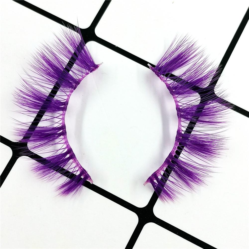 Pure purple Color Faux Mink Lashes