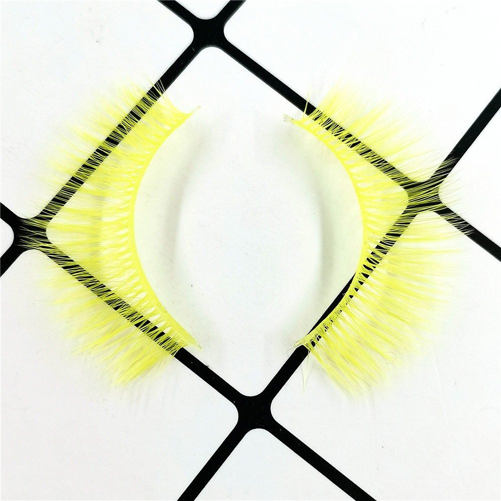 Yellow Colored 3D Premium Synthetic Lashes