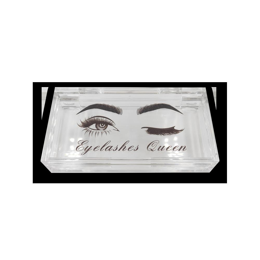 Rectangular transparent eyelash packaging box eyes customized logo-1